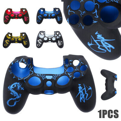 Silicone Camouflage Protective Joystick Skin Case Cover Caps For PS4 Controller