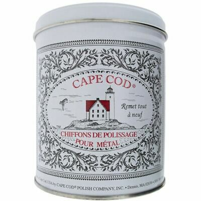 Cape Cod Metal Polishing Tin Kit (12 cloths) Use on Steel, Silver, Brass, Copper