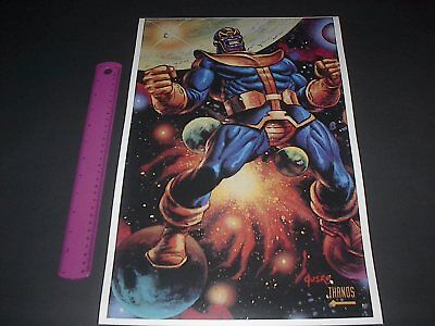 Marvel Comics Thanos Poster Pin Up Jusko Endgame Avengers