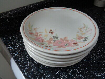 Boots Hedge Rose Side Plates X 6