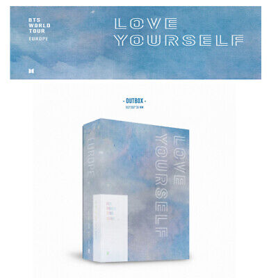 BTS WORLD TOUR 'LOVE YOURSELF' EUROPE DVD + Free Tracking number
