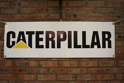 caterpillar excavator 320 769d 317 e120b 229d 215c large pvc WORK SHOP BANNER