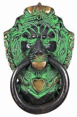 Lion Shape Handmade Brass Door Knocker Antique Vintage Finish Knob Home Decor