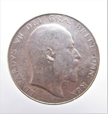 1906 King Edward Vii Silver Halfcrown