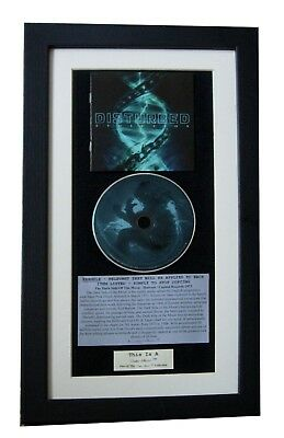DISTURBED Evolution CLASSIC CD Album GALLERY QUALITY FRAMED+EXPRESS GLOBAL SHIP