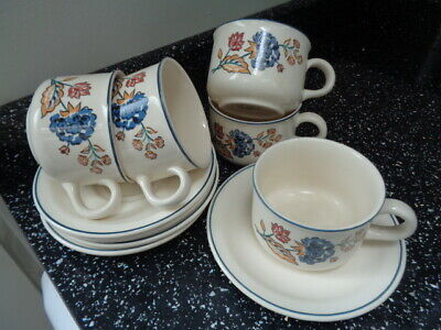 Boots Camargue Cups And Saucers X 5
