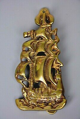Brass Vintage Door Knocker Galleon Ship