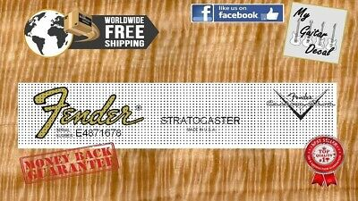 Fender Stratocaster Guitar Decal Headstock logo Waterslide Anni 80 x 2pcs