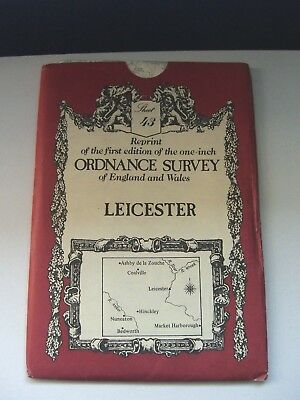 Leicester - Victorian Ordnance Survey Map OS No. 43