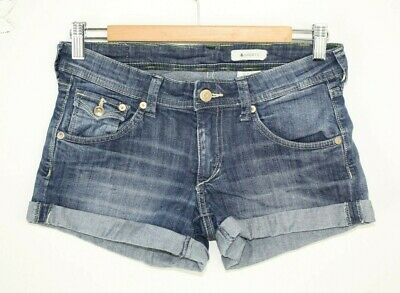 DAMEN JEANS SHORTS H&M 34 XS blau blue Denim Used Hot Pant