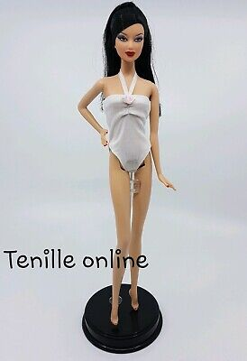 New Barbie doll clothes fashion outfit dress pretty white swim suit swimmers