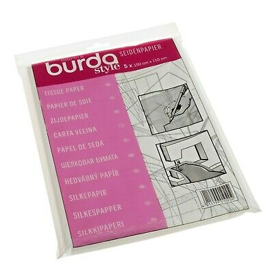 Burda Double Pack 2 Sheets Dressmakers Tissue Paper 110 x 150cm Yellow /& White Tracing Carbon Paper 83x57cm