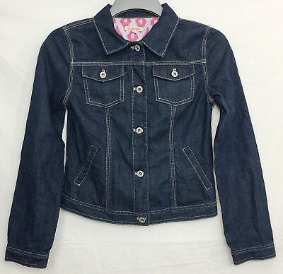 BLUE ZOO Girls Blue Denim Jacket Age 14 Years Long Sleeves Buttons