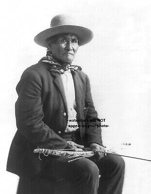 1904 GERONIMO St Louis Worlds Fair PHOTO Apache Indian Chief Bow and Arrows Seat