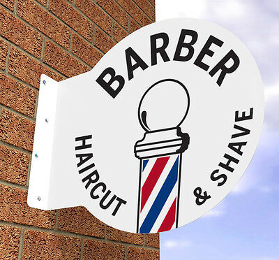 Barbers Pole Sign Barber Shop Sign * Printed With Your Details Free Of Charge