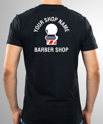 Barbers Sign Barber Pole * T-Shirts Printed With Your Barber Shop Name & Logo