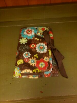 Thirty One 31 Fold & Go Brown Floral Trifold Organizer~Euc