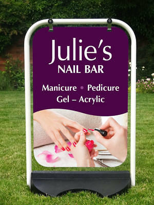 Nail Bar Sign Manicure Sign Pedicure Sign Pavement Sign * Customised Printing *