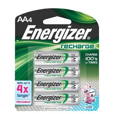 NEW Energizer Rechargeable AA Batteries (4-Pack) - 1.2 v