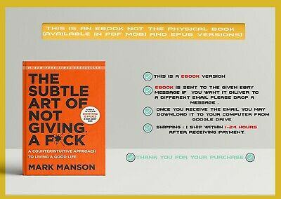 BEST BOOK The Subtle Art of Not Giving a F*ck  PDF version best seller in 2017