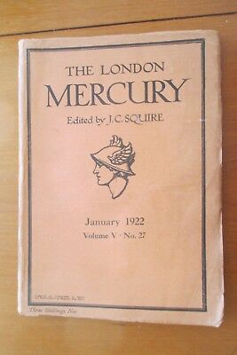 1922 The London Mercury Katherine Mansfield At The Bay