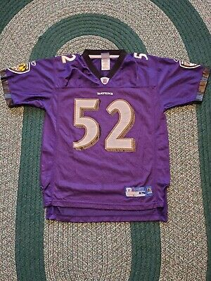 b6e744d1464 Reebok NFL Baltimore Ravens Ray Lewis #52 Football Jersey Youth Large 14-16  EUC