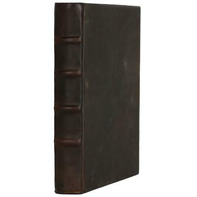 """Old Brown Leather Bound Book Journal Notebook Hardcover Diary Ruled Lined 7"""" X 9"""