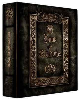 """Book of Shadows 3 Ring Binder Gothic Occult Design 10"""" x 11.75"""" x 2.8""""spine"""