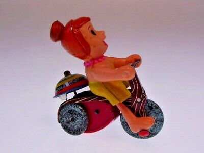 "Gscom Flintstones: ""Wilma Flintstone Tricycle"" 1962  Marx, W/U Ok, Very Good  !"