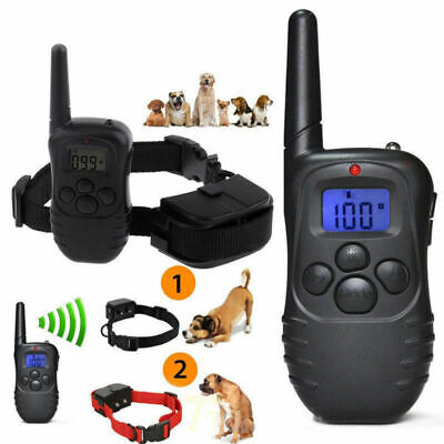 Rechargable Waterproof Remote Control Bark Collar Remote Vibration LCD Ecollar