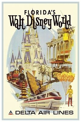 Disney World Delta Airlines - Collector Poster 4 Different Sizes  (B2G1 Free!!)
