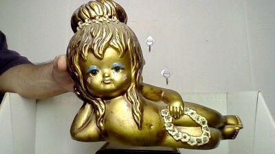 Rare Vintage Iconic 1960's Papermache Winged Angel Baby