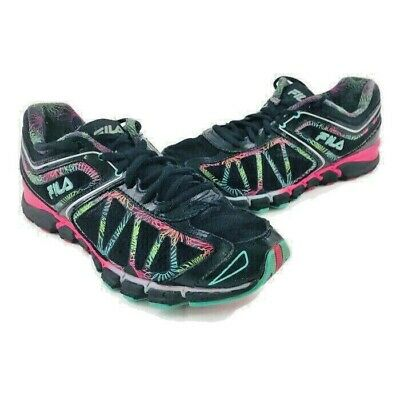 c02eead608224 Fila Energized Women's Athletic Sneakers Sz 9 Black w/ Multi-Color Accents