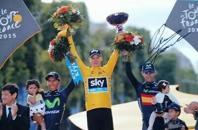 Cycling Chris Froome Signed Photo Autograph  Tour De France Cycling