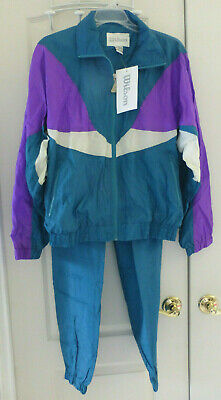 Vintage WILSON Womens Tracksuit, Purple White Teal, Size M, NWT