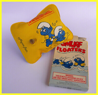 Smurf Floaters Circ 1980s With Original Box & Contents