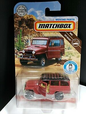 2019 Matchbox Moving Parts '62 Jeep Willys Wagon Opening Doors - A9