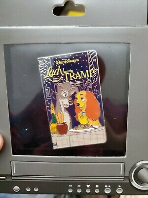 Disney Parks Pin lady and the tramp VHS tape pin LE 1500