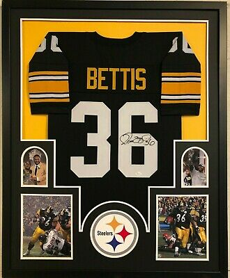 8a921622c26 Framed Pittsburgh Steelers Jerome Bettis Autographed Signed Jersey Jsa Coa