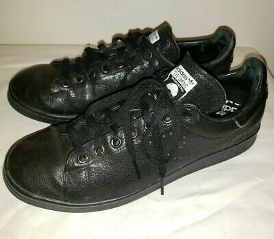 80a27a7713a66 ADIDAS RAF SIMONS STAN SMITH Black Leather Sneakers Shoes 9.5 43.5