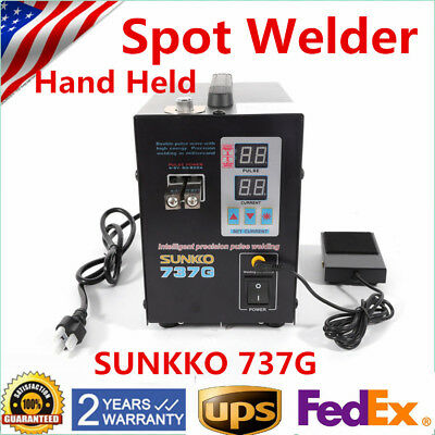 Handheld SUNKKO 737G Battery Spot Welder Welding with Pulse Current Display UPS!