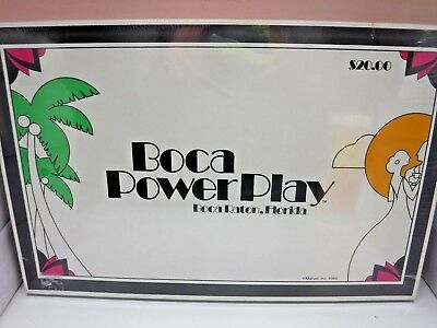 Boca Power Play Board Game Boca Raton Florida Monopoly Type Game Sealed New 1983