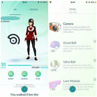 Lvl30 Pokemon Go No Team Starters/12 Lures /No Botting/Handmade-Guarantee!