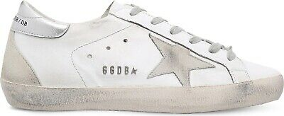 607382ccc GOLDEN GOOSE Superstar W77 leather trainers White/grey Suede Size 38