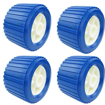 4PCS Boat Trailer Roller Marine Yacht Trailer Ribbed Wobble Roller 110*75*19 mm