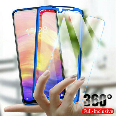 360° Full Body Hard Phone Case Cover Tempered Glass For Samsung Galaxy A50 A30