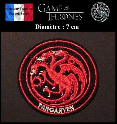 Écusson Brodé Thermocollant NEUF Patch Embroidered Game of Thrones Targaryen (B)