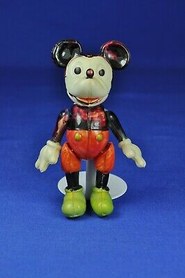 Mickey Mouse Gliederpuppe Zelluloid / Celluloid Jointed Doll, 7 cm, ca. 1930er