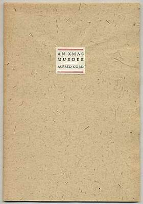Alfred CORN / An Xmas Murder Signed 1st Edition 1987