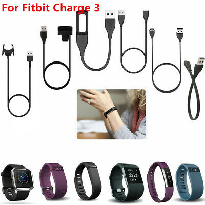 USB Charger Cable Charging For Fitbit Charge 3 Flex 2 Alta HR Blaze Versa Force